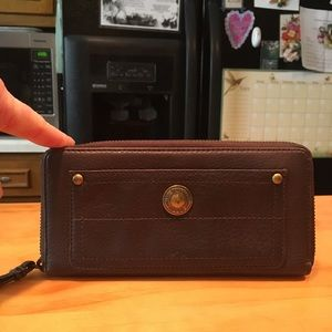 Coach Soft Brown Leather Clutch